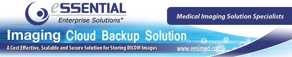 EESI cloud backup storage solution for for protecting and storing DICOM images in compliance with HIPAA and HITECH standards